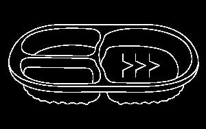 Pote Oval com 3 divisórias – 750ml